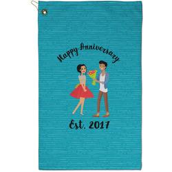 Happy Anniversary Golf Towel - Full Print - Small w/ Couple's Names