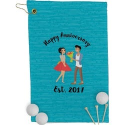 Happy Anniversary Golf Towel - Full Print (Personalized)