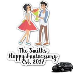 Happy Anniversary Graphic Car Decal (Personalized)