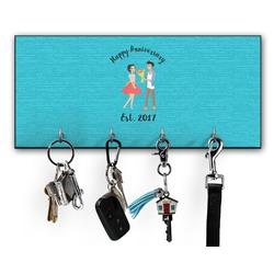 Happy Anniversary Key Hanger w/ 4 Hooks (Personalized)