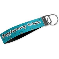 Happy Anniversary Webbing Keychain Fob - Small (Personalized)