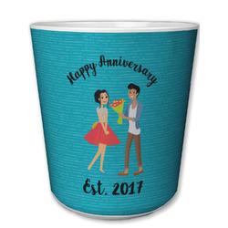 Happy Anniversary Plastic Tumbler 6oz (Personalized)