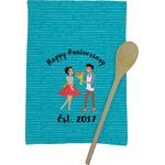 Happy Anniversary Kitchen Towel - Full Print (Personalized)