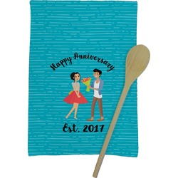 Happy Anniversary Kitchen Towel - Full Print (Personalized)