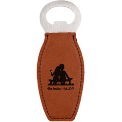Happy Anniversary Leatherette Bottle Opener (Personalized)