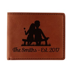 Happy Anniversary Leatherette Bifold Wallet (Personalized)