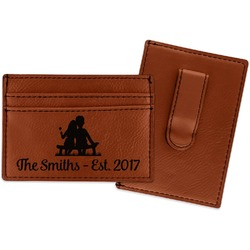 Happy Anniversary Leatherette Wallet with Money Clip (Personalized)