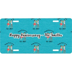 Happy Anniversary Front License Plate (Personalized)