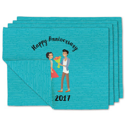 Happy Anniversary Linen Placemat w/ Couple's Names