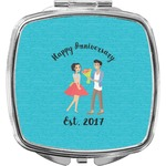 Happy Anniversary Compact Makeup Mirror (Personalized)