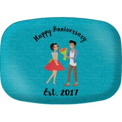 Happy Anniversary Melamine Platter (Personalized)