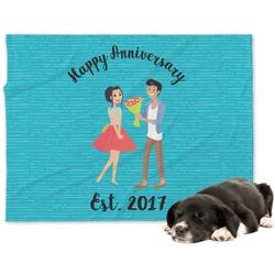 Happy Anniversary Minky Dog Blanket (Personalized)