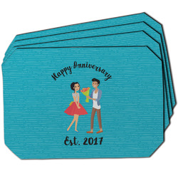 Happy Anniversary Dining Table Mat - Octagon w/ Couple's Names
