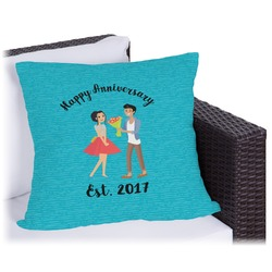 Happy Anniversary Outdoor Pillow (Personalized)