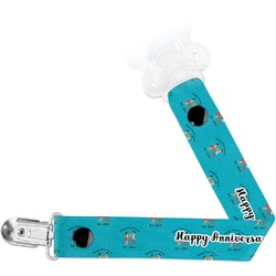 Happy Anniversary Pacifier Clips (Personalized)