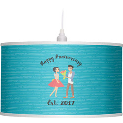 Happy Anniversary Drum Pendant Lamp (Personalized)