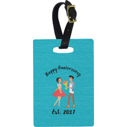 Happy Anniversary Rectangular Luggage Tag (Personalized)