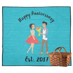 Happy Anniversary Outdoor Picnic Blanket (Personalized)