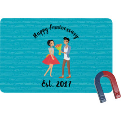 Happy Anniversary Rectangular Fridge Magnet (Personalized)