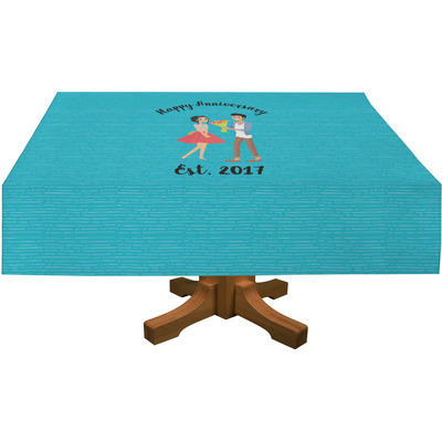 "Happy Anniversary Tablecloth - 58""x102"" (Personalized)"