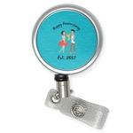 Happy Anniversary Retractable Badge Reel (Personalized)