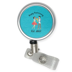 Happy Anniversary Retractable Badge Reel (Personalized)