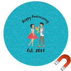Happy Anniversary Car Magnet (Personalized)