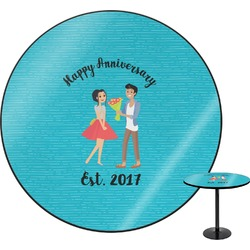 Happy Anniversary Round Table (Personalized)