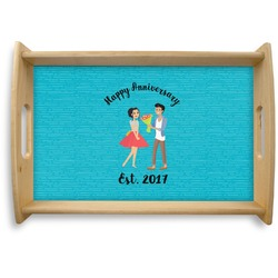 Happy Anniversary Natural Wooden Tray (Personalized)