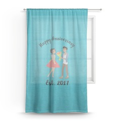 Happy Anniversary Sheer Curtains (Personalized)