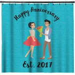 Happy Anniversary Shower Curtain (Personalized)