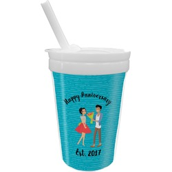 Happy Anniversary Sippy Cup with Straw (Personalized)