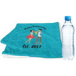 Happy Anniversary Sports Towel (Personalized)