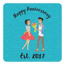 Happy Anniversary Square Decal (Personalized)