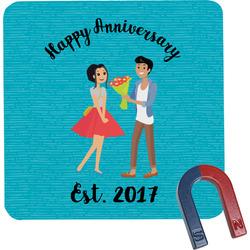 Happy Anniversary Square Fridge Magnet (Personalized)
