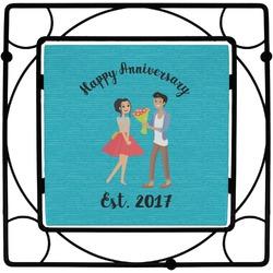Happy Anniversary Square Trivet (Personalized)