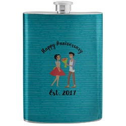 Happy Anniversary Stainless Steel Flask (Personalized)