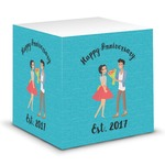 Happy Anniversary Sticky Note Cube (Personalized)