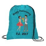 Happy Anniversary Drawstring Backpack (Personalized)