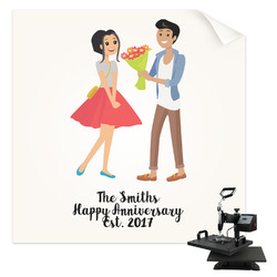 Happy Anniversary Sublimation Transfer (Personalized)