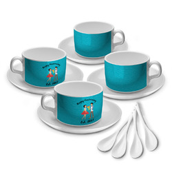 Happy Anniversary Tea Cup - Set of 4 (Personalized)