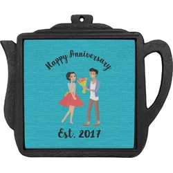 Happy Anniversary Teapot Trivet (Personalized)