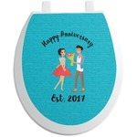 Happy Anniversary Toilet Seat Decal (Personalized)