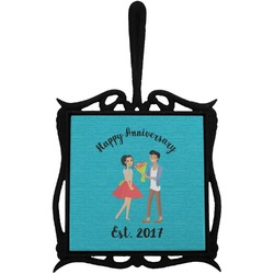Happy Anniversary Trivet with Handle (Personalized)