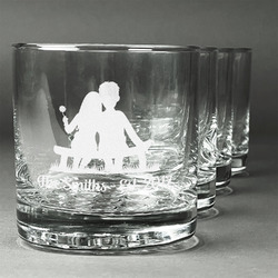 Happy Anniversary Whiskey Glasses (Set of 4) (Personalized)