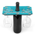 Happy Anniversary Wine Bottle & Glass Holder (Personalized)