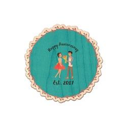 Happy Anniversary Genuine Wood Sticker (Personalized)