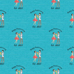 Happy Anniversary Wrapping Paper (Personalized)