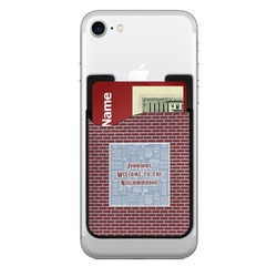 Housewarming 2-in-1 Cell Phone Credit Card Holder & Screen Cleaner (Personalized)