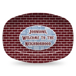 Housewarming Plastic Platter - Microwave & Oven Safe Composite Polymer (Personalized)